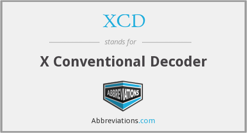 XCD - X Conventional Decoder