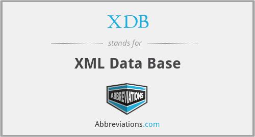 XDB - XML Data Base