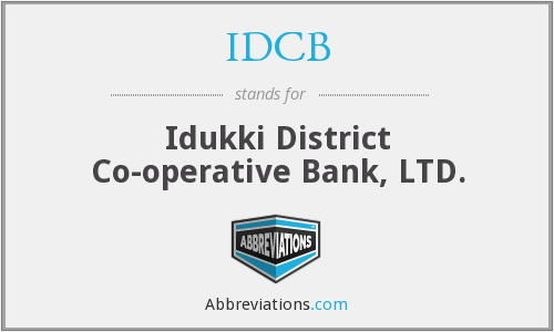 IDCB - Idukki District Co-operative Bank, LTD.
