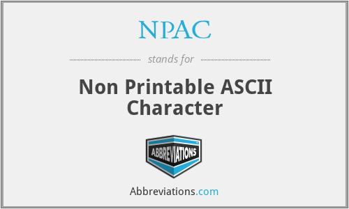 NPAC - Non Printable ASCII Character