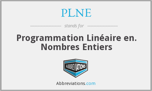 What does PLNE stand for?