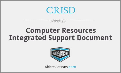 What does CRISD stand for?