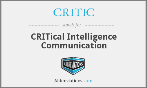 CRITIC - CRITical Intelligence Communication