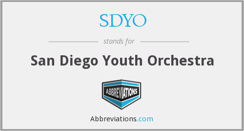 What does SDYO stand for?