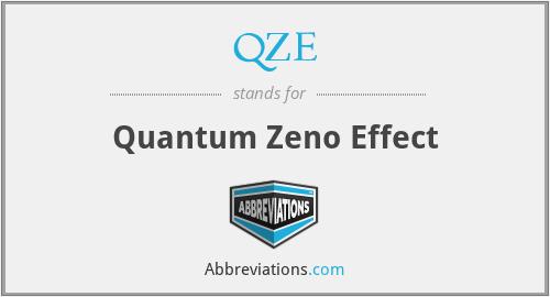 QZE - Quantum Zeno Effect