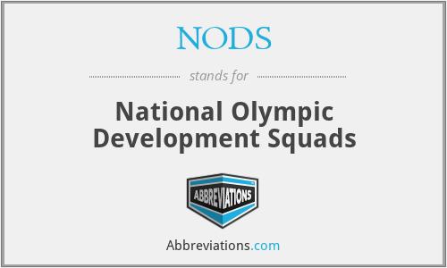 NODS - National Olympic Development Squads