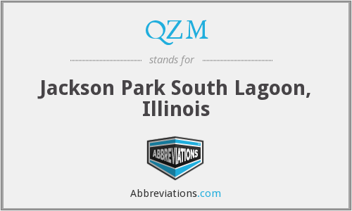 QZM - Jackson Park South Lagoon, Illinois