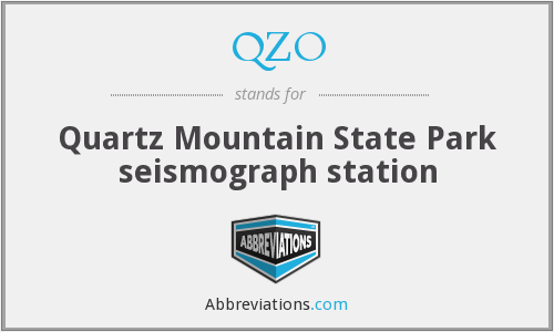 QZO - Quartz Mountain State Park seismograph station