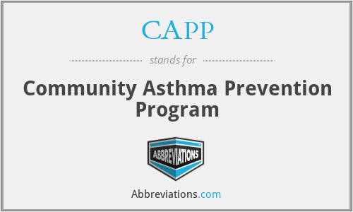 CAPP - Community Asthma Prevention Program