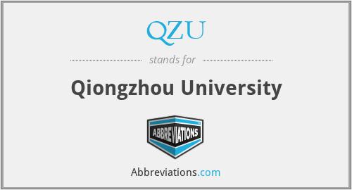 QZU - Qiongzhou University