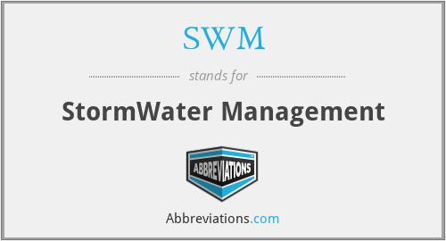 SWM - StormWater Management