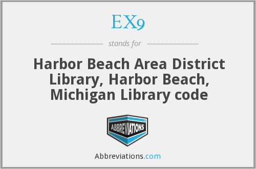 EX9 - Harbor Beach Area District Library, Harbor Beach, Michigan Library code