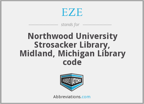 EZE - Northwood University Strosacker Library, Midland, Michigan Library code