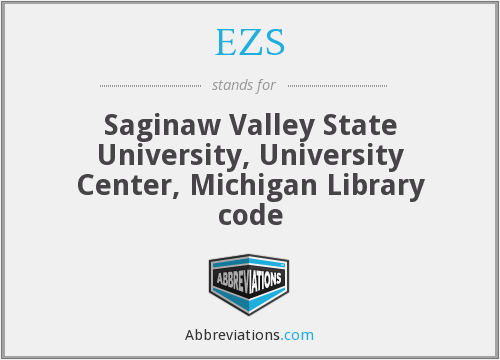 EZS - Saginaw Valley State University, University Center, Michigan Library code