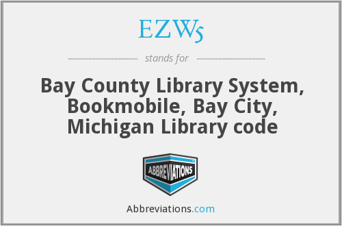 EZW5 - Bay County Library System, Bookmobile, Bay City, Michigan Library code