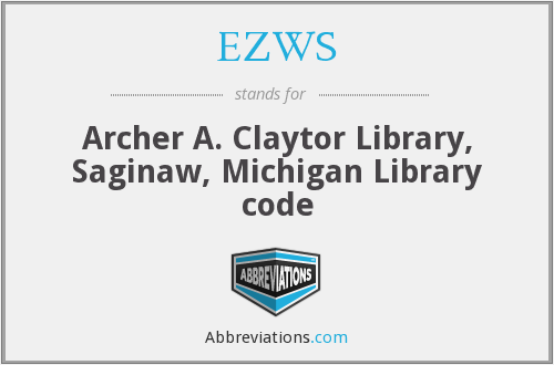 EZWS - Archer A. Claytor Library, Saginaw, Michigan Library code