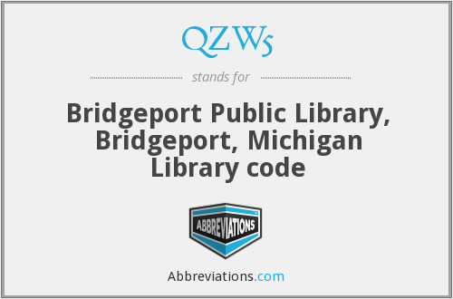 QZW5 - Bridgeport Public Library, Bridgeport, Michigan Library code