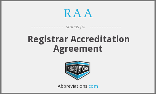 RAA - Registrar Accreditation Agreement