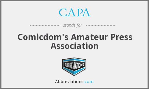 CAPA - Comicdom's Amateur Press Association