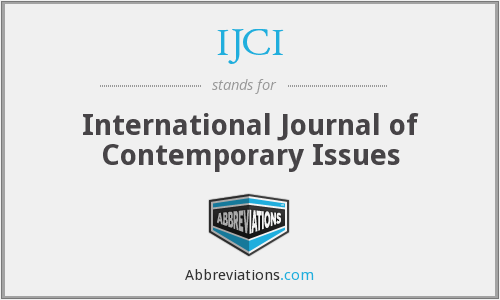 What does IJCI stand for?