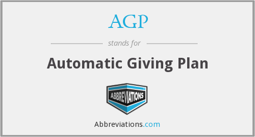 AGP - Automatic Giving Plan