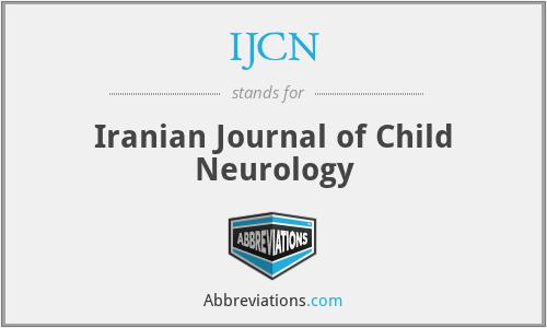 IJCN - Iranian Journal of Child Neurology