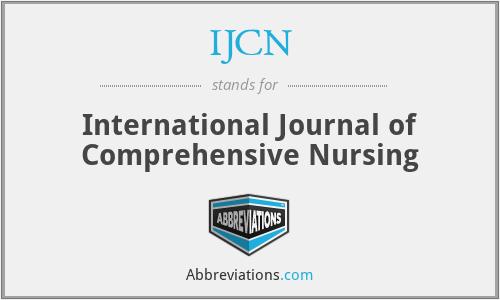 IJCN - International Journal of Comprehensive Nursing