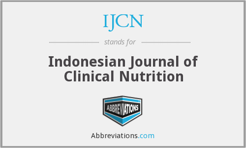 IJCN - Indonesian Journal of Clinical Nutrition