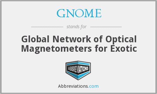 GNOME - Global Network of Optical Magnetometers for Exotic
