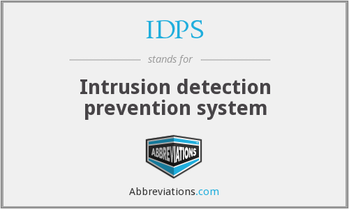 IDPS - Intrusion detection prevention system