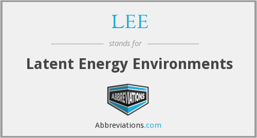 LEE - Latent Energy Environments