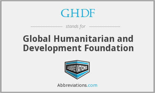 What does GHDF stand for?