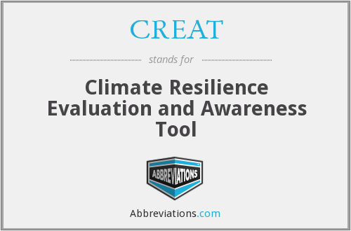 CREAT - Climate Resilience Evaluation and Awareness Tool