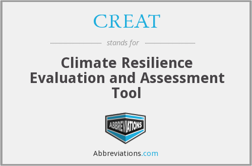 CREAT - Climate Resilience Evaluation and Assessment Tool