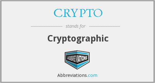 CRYPTO - Cryptographic