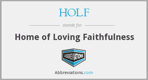 What does HOLF stand for?