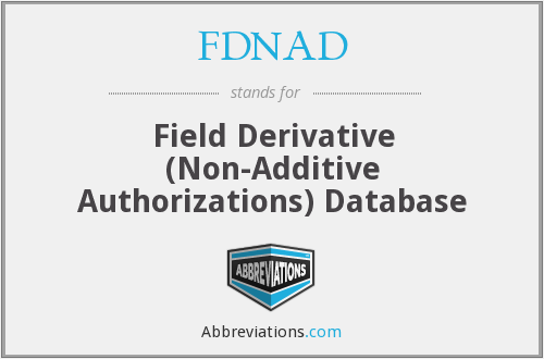 What does FDNAD stand for?