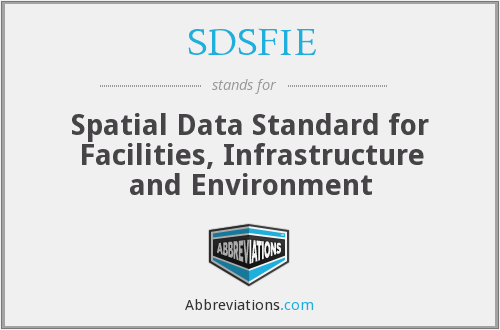 What does SDSFIE stand for?