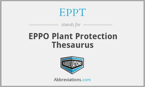 EPPT - EPPO Plant Protection Thesaurus