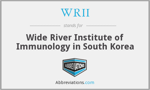 WRII - Wide River Institute of Immunology in South Korea