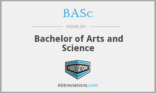 BASc - Bachelor of Arts and Science