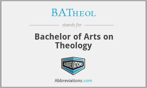 BATheol - Bachelor of Arts on Theology