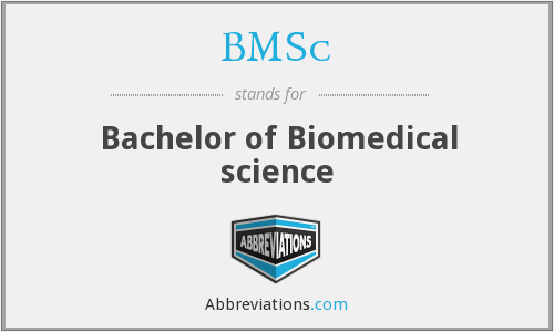 BMSc - Bachelor of Biomedical science