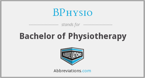 BPhysio - Bachelor of Physiotherapy