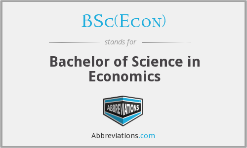 BSc(Econ) - Bachelor of Science in Economics