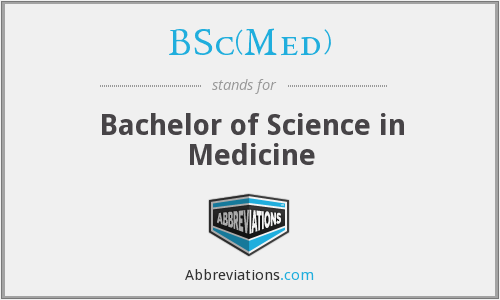 What does BSC(MED) stand for?