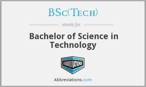 What does BSC(TECH) stand for?