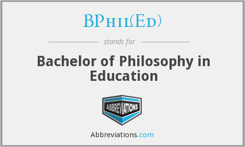 BPhil(Ed) - Bachelor of Philosophy in Education
