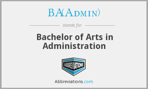 What does BA(ADMIN) stand for?