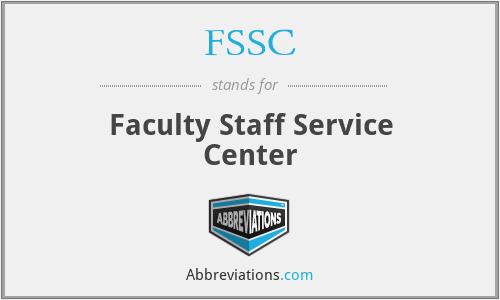 FSSC - Faculty Staff Service Center